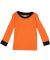 Rabbit Skins 201Z Toddler Baby Rib Long Sleeve Paj ORANGE/ BLACK
