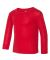 Rabbit Skins 201Z Toddler Baby Rib Long Sleeve Paj RED