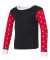 Rabbit Skins 201Z Toddler Baby Rib Long Sleeve Paj BLK/ RD WH D/ WH