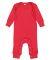 Rabbit Skins 4412 Infant Long Legged Baby Rib Body RED