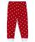 Rabbit Skins 102Z Baby Rib Infant Pajama Pants RED WHT DOT/ WHT