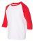 Gildan 5700B Heavy Cotton Youth Raglan Tee WHITE/ RED