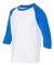 Gildan 5700B Heavy Cotton Youth Raglan Tee WHITE/ ROYAL