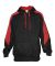 Badger Sportswear 1265 Saber Hooded Sweatshirt Black/ Red