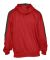 Badger Sportswear 1265 Saber Hooded Sweatshirt Red/ Charcoal