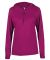 Badger Sportswear 4165 B-Core L/S Women's Hood Tee Hot Pink
