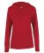 Badger Sportswear 4165 B-Core L/S Women's Hood Tee Red