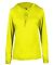 Badger Sportswear 4165 B-Core L/S Women's Hood Tee Safety Yellow