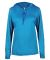 Badger Sportswear 4165 B-Core L/S Women's Hood Tee Electric Blue