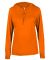 Badger Sportswear 4165 B-Core L/S Women's Hood Tee Burnt Orange