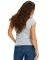 US180 US Blanks Ladies Cap Sleeve Jersey T-Shirt Heather Grey