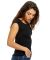 US180 US Blanks Ladies Cap Sleeve Jersey T-Shirt Black