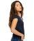 US180 US Blanks Ladies Cap Sleeve Jersey T-Shirt Navy