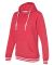 J America 8651 Relay Women's Hooded Pullover Sweat Red