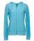 J America 8656 Cozy Fleece Women's Full-Zip Hooded Blue Topaz
