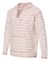 J America 8692 Baja French Terry Hooded Pullover Natural/ Brick Red