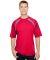A4 Apparel N3001 Men's Spartan Short Sleeve Color  SCARLET/ GRAPHIT