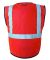 ML Kishigo 1519-1520 Class 2 Economy Vest with Zip Fluorescent Red (1719)