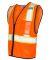 ML Kishigo 1527-1528 Economy Vest with Contrast Zi Orange