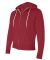 Independent Trading Co. - Unisex Full-Zip Hooded S Red