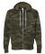 Independent Trading Co. - Unisex Full-Zip Hooded S Forest Camo