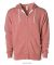 Independent Trading Co. - Unisex Full-Zip Hooded S Dusty Rose