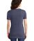 Jerzees 88WVR Women's Snow Heather Jersey V-Neck Navy