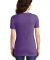 Jerzees 88WVR Women's Snow Heather Jersey V-Neck Purple