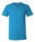 BELLA+CANVAS 3005 Cotton V-Neck T-shirt NEON BLUE