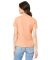 BELLA 6405 Ladies Relaxed V-Neck T-shirt HEATHER PEACH