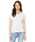 BELLA 6405 Ladies Relaxed V-Neck T-shirt SOLID WHT TRBLND