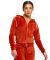 US Blanks / US565 Women's Plush Velour Zip Hoody Rust