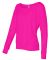BELLA 8850 Womens Long Sleeve Dolman Top NEON PINK