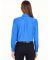 8331 UltraClub® Ladies' Blend Performance Poplin  French Blue
