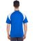 8399 UltraClub® Adult Cool & Dry Sport Color Bloc ROYAL/ WHITE