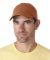 UltraClub 8102 Twill Unconstructed Dad Hat TANGERINE