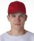 8121 UltraClub® Adult Classic Cut Cotton Twill Ca RED