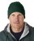 8130 UltraClub® Acrylic Knit Beanie with Cuff  FOREST GREEN