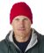 8130 UltraClub® Acrylic Knit Beanie with Cuff  RED