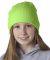 8131 UltraClub® Acrylic Knit Beanie LIME GREEN