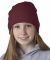 8131 UltraClub® Acrylic Knit Beanie BURGUNDY