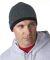 8132 UltraClub® Two-Tone Acrylic Knit Beanie HTHR GREY/ BLACK