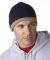 8132 UltraClub® Two-Tone Acrylic Knit Beanie NAVY/ STONE