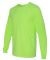 29LS Jerzees Adult Long-Sleeve Heavyweight 50/50 B Neon Green