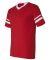 360 Augusta Sportswear Sleeve Stripe Jersey RED/ WHITE