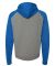 Independent Trading Co. - Raglan Hooded Pullover - Gunmetal Heather/ Royal Heather