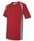 M1004 All Sport Reverse Colorblock T-shirt Sport Scarlet Red/ Grey/ Slate