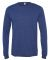 BELLA+CANVAS 3501 Long Sleeve T-Shirt NAVY TRIBLEND