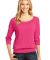 District Made 482 Ladies Modal Blend 3/4 Sleeve Ra Dark Fuchsia
