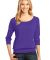 District Made 482 Ladies Modal Blend 3/4 Sleeve Ra Purple